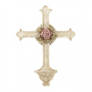 Gothic Rose Wall Cross (Item # 32006)