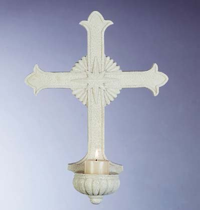 Wall Cross Votive Holder (Item # 32158)
