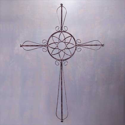 Wrought Iron Cross (Item # 33585)