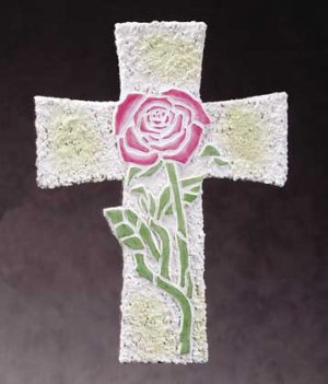 Rose Mosaic Wall Cross (Item # 34258)