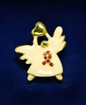 Ceramic Angel Pin