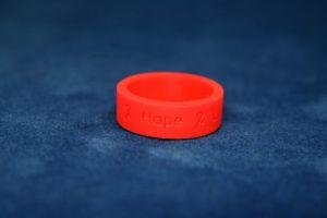 Red Ribbon Silicon Ring