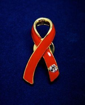 Ribbon Pin with Crystal