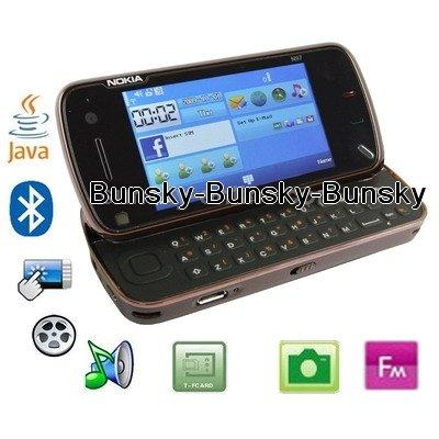 Dual camera, Bluetooth JAVA Mobile Phone, GSM850/ 900 / 1800/ 1900MHZ (Mini N97)