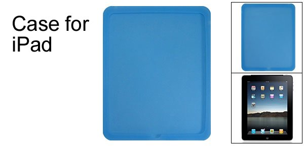 Protector Back Blue Silione Skin Case for Apple iPad