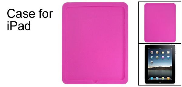 Amaranth Pink Silicone Skin Back Protector for Apple iPad