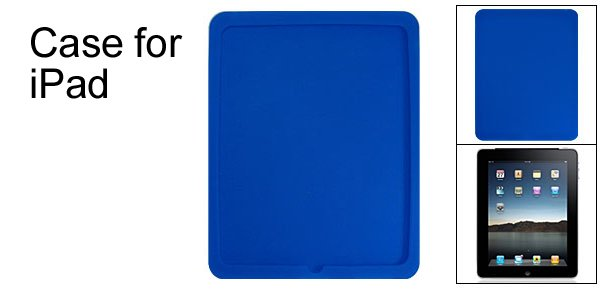 Blue Protector Silicone Case Back Skin for Apple iPad