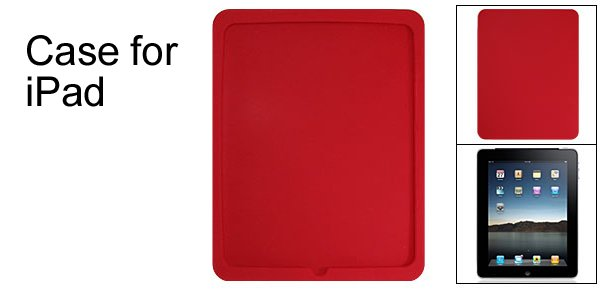 Textured Apple iPad Case Back Cover Silicone Skin Red