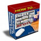 Create A Minisite In 30 Minutes Or Less