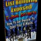 List Building Exposed - Eail Secrets