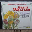 Great Waltzes: Hlts of Classical Music (CD, 1988, Laserlight) Classical