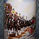 Budweiser 1992 A Perfect Christmas, Beer Mug, Made By Ceramarte of Brazil