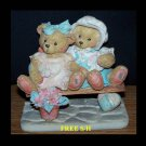 "CHERISHED TEDDIES 1992: Tracie & Nicole - ""Side By Side With Friebds""  911372"