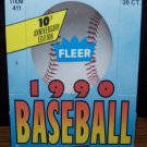 FLEER-10th-Anniversary-Ed-1990-15 Cards Plus Sticker Card Per Pack, 36 WAX-Packs