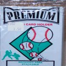 "PREMIUM Plastic Sports Card Holder 3""X 5""X 1/4"" Fits 1957 to present BRAND NEW!"