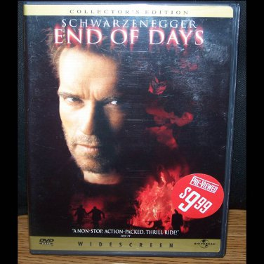 End Of Days (DVD, R, Widescreen) Arnold Schwarzenegger, Collector's Edition Action Like New