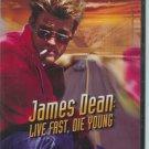 James Dean: Live Fast, Die Young (DVD, SlimCase 2006) Casper Van Dean Biography Like New