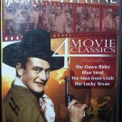 John Wayne`Dawn Rider, Blue Steel, The Man From Utah, Lucky Texan-4 DVD Westerns Like New