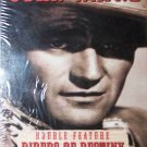 John Wayne, Double Feature, (VHS, NR B/W) Vintage Western, Brand New