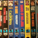 The John Wayne Larger Than Life Collection (VHS, NR, Color) Set of 8 Action / Adventure  Like New