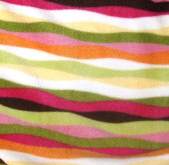 Homemade Striped Tie Fleece Baby Blanket- 30x27
