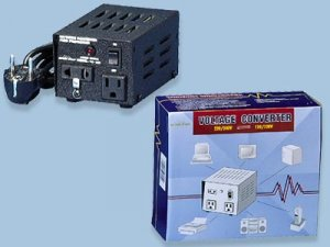 TC-100 100W Watt Step Up-Down Deluxe Voltage Converter with two outlet (110v 220v)