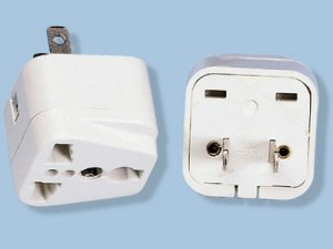 American Ungrounded Adapter Plug with Universal Output SS-410