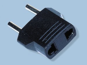 European/Asian 5MM Round Prong Non-Grounded Plug Adapter MU-3