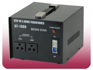 Sevenstar Brand ST-1000 Voltage Converter Travel World Transformer
