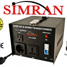 Simran AC-1500 Watt Voltage Transformer Heavy-Duty, CE Approved, with Switch Breaker, Fuse Protected
