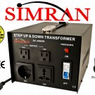 Simran AC2000W 2000 Watt Step UP/DOWN Voltage Converter Transformer for Heavy-Duty Continuous Use