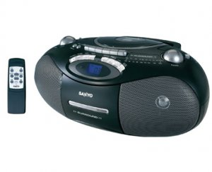 Sanyo MCD-ZX680M CD/CD-R/CD-RW/MP3 RADIO Cassette Player