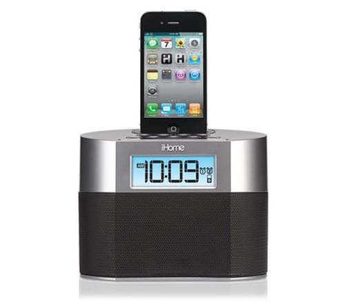 IP23 Alarm Clock for iPhone or iPod - 100-240V Worldwide Use