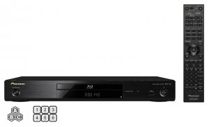 Pioneer BDP-140 3D Regionfree Blu-ray DVD Player Plays any DVD