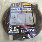 6ft Gold-Plated Red Color HDMI Cable