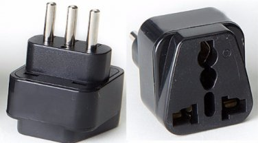 Type L SS418-S Italy Universal Plug Adapter Black