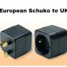 MKV17 European Schuko to UK British grounded adapter plug EU to UK
