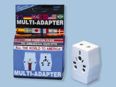 SS407 Multi Receptacle Adapter Plug For Standard US Outlet