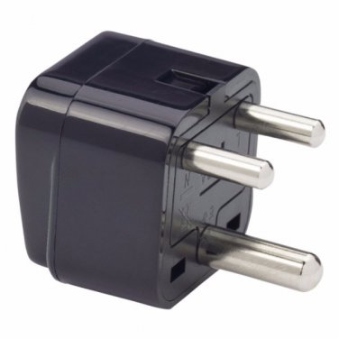 SS415i India 3-Pin Universal Plug Adapter Black