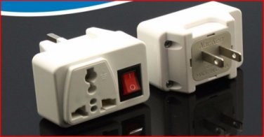 609A Universal Plug Adapter with Switch for USA Outlet