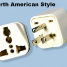 SS-417 Universal to American Grounded Plug Adapter For North American Outlet Type B