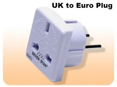 SS421 Adapter Plug from UK to standard European UK TO EU Adapter