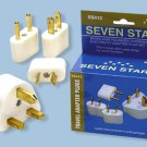 SS-413 International Travel Plug Adapter Set 4 Plugs For Europe, Asia, Africa, USA