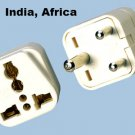 Type D SS-415i India 3-Pin Universal Plug Adapter Three Round Prongs