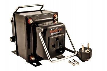 Simran THG-100 100W W Watt Step Down Voltage Converter With European Cord