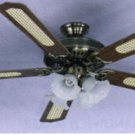 "Sakura 52"" 220 Volt Brass Ceiling Fan with Four Lights (220V NON-US Compliant)"