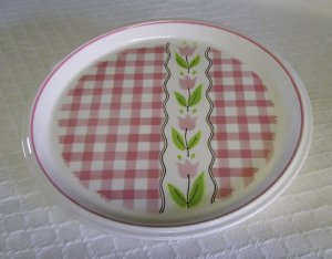 Mikasa, Country Gingham, Cotton Candy, Pink Dinner Plate, 2 available