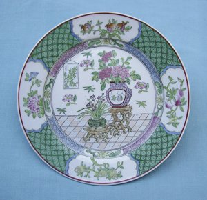 Chinese, Antique, Spring Festival, Porcelain Plate, Hand Painted, Macau