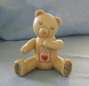 Franklin Mint, Americana Teddy Bear, Sampler Teddy, 1991