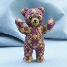 Franklin Mint, Americana Teddy Bear, Quilted Teddy, 1991
